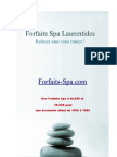 Forfaits Spa Laurentides
