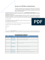 The SAP Hana Reference for SAP Basis Administrators