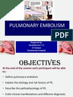 HDU pulmonaryembolism