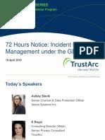 72 Hours' Notice