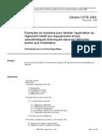 Exemples de Solutions Pour Faciliter l'Application Du Règlement Relatif Aux Équipements Et Aux Caractéristiques Thermiques Dans Les Bâtiments Autres Que d'Habitation