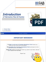 Basic Introduction of Fabrication Flow New