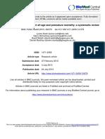 Vitamina D - Mortalidad Prematura - Edad