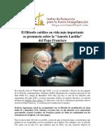 Articulo= El filósofo católico en vida más importante se pronuncia sobre la Amoris laetitia del Papa Francisco