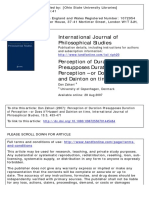 International Journal of Philosophical Studies Volume 15 Issue 3 2007 [Doi 10.1080%2F09672550701445464] Zahavi, Dan -- Perception of Duration Presupposes Duration of Perception – or Does It_ Husserl A
