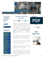 Industrial Third Party Inspection