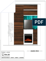Ugradbeni Ormar s TV listom, staklenom pločom s otiskom i LED rasvjetom, klizna vrata i elektični kamin