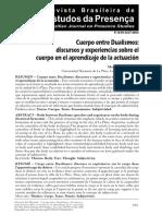 Cuerpo entre dualismos_Revista Brasileira de Estudos da Presença