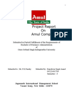 ProJect on Amul Co. by Rajeshwar Singh Anand