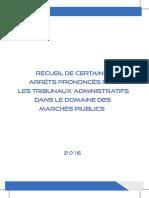 Recueil Des Arretes Prononces Pour Les Marches Piublics