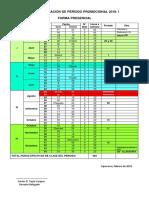 Calendarización Pp 2018