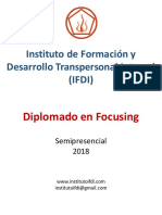 Programa Diplomado Focusing 2018