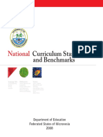 FSM National Curriculum Standards and Benchmarks