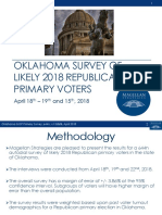 Magellan Strategies Oklahoma 2018 Republican Primary Survey Presentation 04-25-18