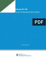 Informe Nº 109 de Marcos Peña en el Senado