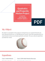 quadratics and projectile motion project