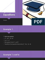 Disguised Quadratic Equations