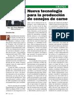 Nueva Tecnologia Para La Produccion de Conejos de Carne - Revista 102