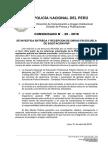 COMUNICADO PNP N° 20 - 2018