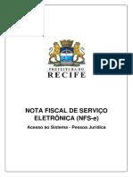 NFS-e _ Manual de Acesso Ao Sistema Pessoa Jurídica