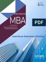 Master Mba Especializado en Tecnologia Informatica Transformacion Digital