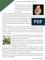 Biografía y Autobiografía Miguel Cervantes