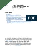 Rôle de l'ICANN dans l'écosystème de la gouvernance de l'Internet