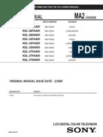 KDL-32 Fa400 26 y 37 FA400 Chassis MA2