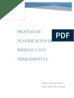 Proceso de Planificacion de Riesgos y Sus Herramientas