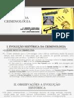 Ftc 2018 Tema 2 Historia Da Criminologia