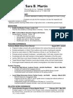 resume - martin - april 2018