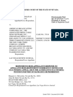 Vegas Shooting Supreme Court Appeal Filed Respondent:Cross-Appellant's Response to Appellant:Cross-Respondent's Emergency Motion for Stay Pending Appeal, Or in the Alternative Stay Pending Petition for Writ of Mandamus or Prohibition.18-15680