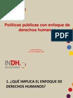 Políticas Públicas Con Enfoque de Derechos Humanos