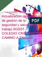 Propuesta Sgsst Colegio Cristiano Camino a Emaus