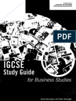 IGCSE Study Guide for Business Studies