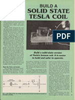 Build a Solid State Tesla Coil - Electronics Now - Nov. 1994