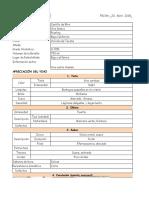Ficha de Degustación Arely