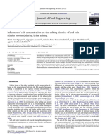 Influence of Salt Concentration on the Salting Kinetics of Cod Loin