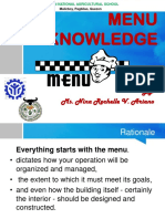 MENU Product Knowledge