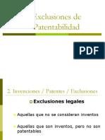 Exclusiones de Patentabilidad
