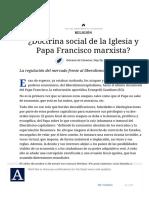 ¿Doctrina Social de La Iglesia y Papa Francisco Marxista