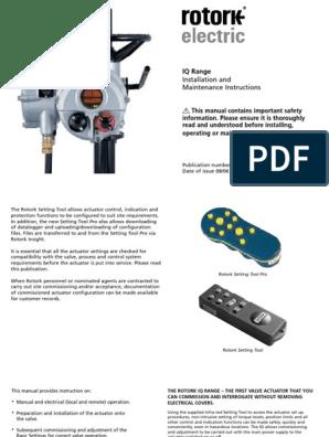 Rotork - IQ - Installation and Maintenance Instructions   Valve   Screw