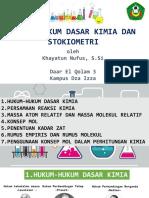 Hukum-Hukum Dasar Kimia