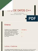 Tipo de datos c++