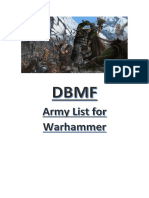 DBMF Army Lists for Warhammer V2