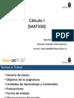 Presentación Clase N°1 MAT330-005V