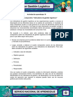 Evidencia 3 Cuadro Comparativo Indicadores de Gestion Logisticos