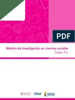 Marco de Referencia Modulo Investigacion en Ciencias Sociales