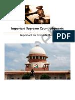 Important Supreme Court Judgments