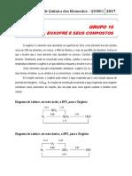 Laboratório de Química Dos Elementos Qui081 2017 Grupo 16